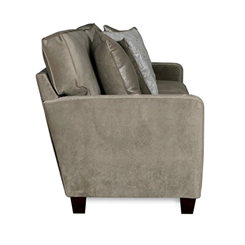 Albany rta cora platinum 3 seat sofa with 4 reversible for Albany sahara sectional sofa chaise