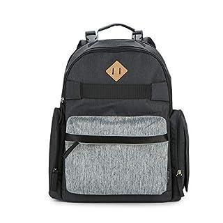 Eddie Bauer Places & Spaces Stowaway Diaper Bag Backpack, Dark Grey