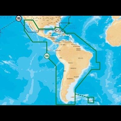 - Navionics Caribbean & S. America, CF Card Nautical Chart on Compact Flash Card - CF/NAV+3XG