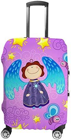 スーツケースカバー トラベルケース 荷物カバー 弾性素材 傷を防ぐ ほこりや汚れを防ぐ 個性 出張 男性と女性かわいい妖精の赤ちゃん