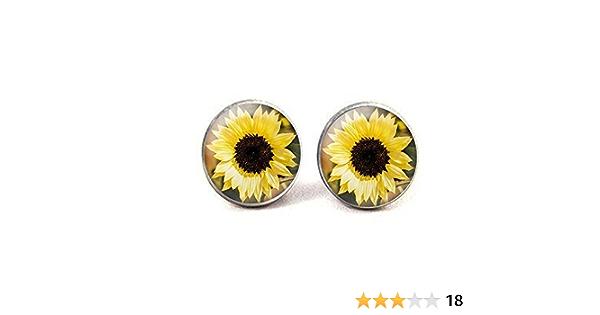 Sunflower Jewelry Sunflower Earrings Jewelry Sterling Silver Handmade Flower Earrings SF2-E