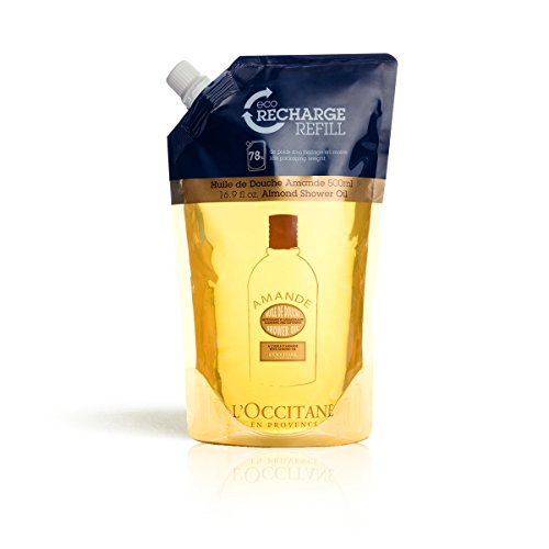 L'Occitane Cleansing & Softening Almond Shower Oil - Refill Pack, 16.9 fl. oz.