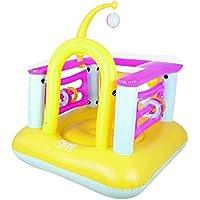 chateau aire de jeu gonflable pour enfant 142X142X165 1 BALLON + 6 CERCEAUX