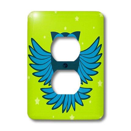 3d Rose 3dRose lsp_20373_6 Cute Blue Flying Owl Under Sta...