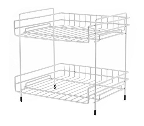 NEUN WELTEN Deep 2 Tier Kitchen Helper Shelf Rack with Large Storage Space 10