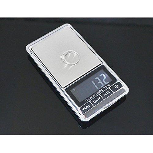 Balanza de joyería digital de balance, 300 g, 0,01 g, color gris: Amazon.es: Oficina y papelería