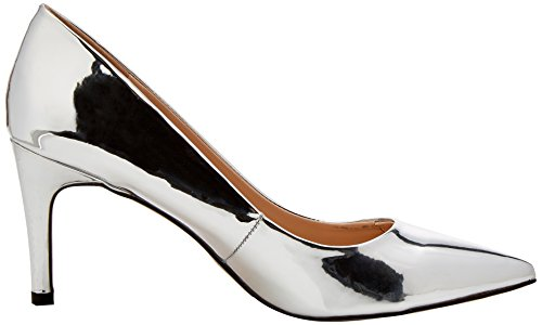 Miss Selfridge Damen Court Pumps Silberfarben