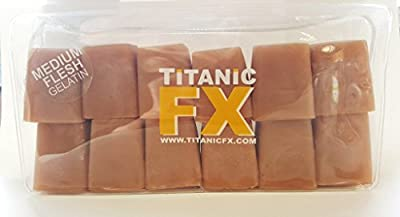 Titanic FX – Reusable Prosthetic Gelatin Medium Flesh – For Special FX and Theatrical Makeup - Wounds, Scars, Injuries – 2lb