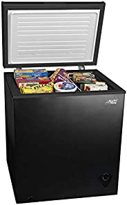 5cf Chest Freezer Deep 5 Cu Ft Compact Dorm Upright Apartment Home Food Storage Compact Space Saving Energy Ef