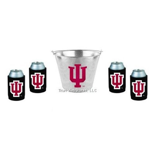 - NCAA Indiana - Beer Bucket & Neoprene Can Insulator (4) Set | Indiana Hoosiers Beer Bucket Gift Set