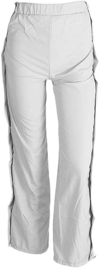 ADNYIDAWAN Pantalones de chándal para Mujer, con Botones Laterales ...
