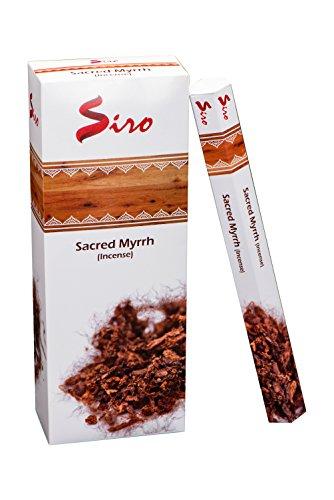 Siro Incense Sticks Gift Pack Pure & Premium Long Lasting Aroma perfect for Yoga, Meditation, Relaxation & Aromatherapy (Sacred Myrrh, 120 Incense (Incense Sticks Gift)