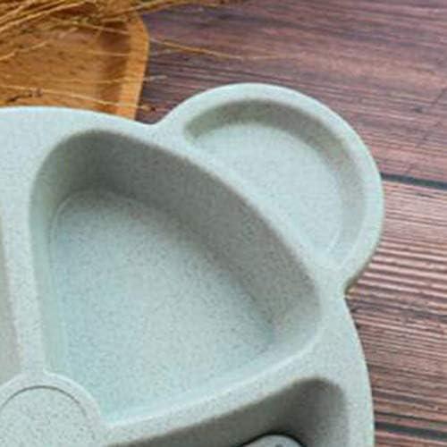 Cubs Juego de cena para ni/ños Trigo Paja Vajilla creativa Bandeja para platos de beb/é Bandeja de desayuno Adici/ón Tenedor y cuchara Azul
