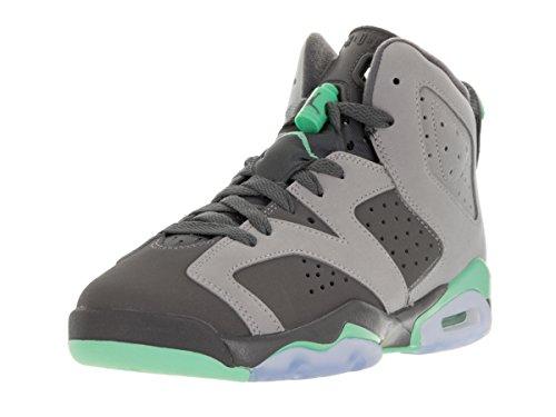 Nike Jordan Kids Air Jordan 6 Retro GG Cmnt Gry/Grn Glw/Drk Gry/Grn G Basketball Shoe 4.5 Kids US (Air Jordan Vi Retro compare prices)