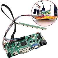 Arduino Compatible SCM & DIY Kits Module Board - Controller Board 40P 8-bit VGA Audio Module Kit For B156XW02 15.6 Inch Display - 1 x Driver board, 1 x Key board, 1 x Standard LED screen line