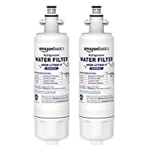 AmazonBasics Replacement LG LT700P Refrigerator Water Filter - Premium Filtration - 2-Pack