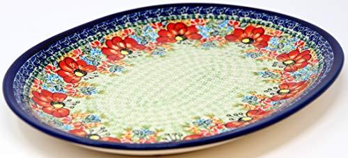 Polish Pottery Large Serving Platter Zaklady Ceramiczne Boleslawiec 1007-296 Art ()