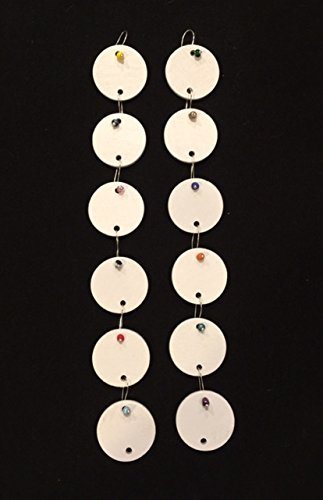 (12 White Painted Wooden Circles with Wire Hanger for Birthday Boards - Ready to Use)