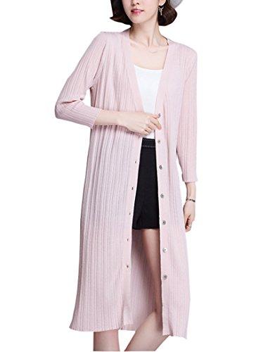 ロング カーディガン 薄手 長袖 体型カバー UVカット 日焼け 冷房対策 春 レディース