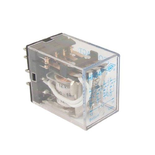 (HH54P DC 12V Coil 5A 240V AC 28V DC Power Relay 14 Pin 4PDT 4 NO 4 NC)