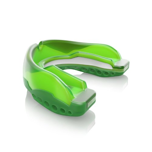 (Shock Doctor Ultra STC Convertible Mouthguard (Green, Adult))
