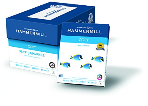 Hammermill Paper, Copy Paper Poly Wrap, 20lb, 8.5 x 11, Letter, 92 Bright, 5000 Sheets / 10 Ream Case (150010C) Made In The - Gift Online Usa