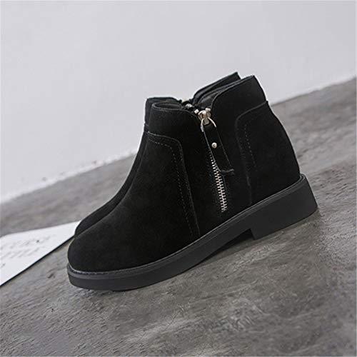 Stivali Da Tacchi Stud Nascosti Breve Zip Boot Moda Nero Scarpe Donna TZwqCrT
