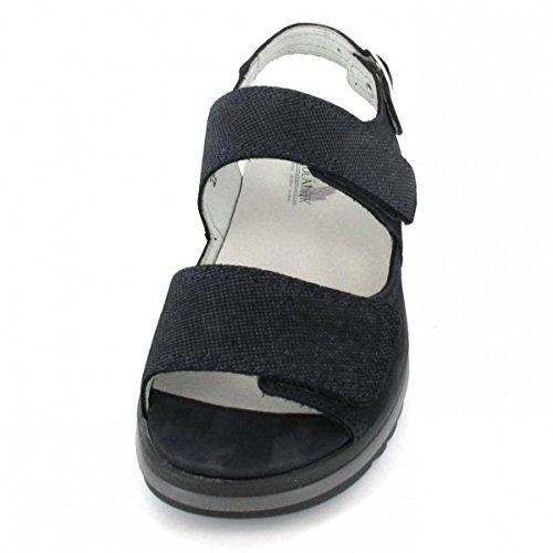 Waldlaufer Lugina Womens Casual Sandals Navy Combi ZLMGXERED