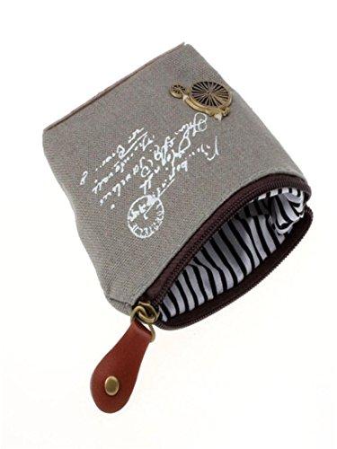 Coin Purse for Women,Women Retro Canvas Coin Purse Wallet Case Handbag (D)