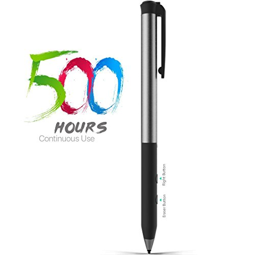 Microsoft Certified Rechargeable Surface Stylus Pens Supporting 500-Hour Working 180-Day Standby Built-in Battery Active Touchsreen Pen 4096 Pressure Sensitivity Surface Pro ()