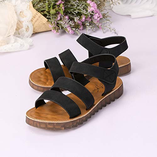 55ab69ea4f554 Moonker Women Summer Shoes Sandals Slides Ladies Girls Roma Soft Flat  Sandals Pregnant Student Round Toe Shoes Black