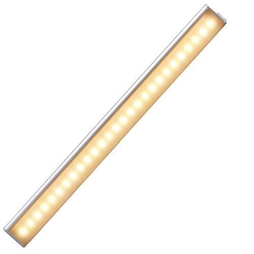 (Cshidworld Motion Sensing Closet Lights, Rechargeable Stick-on Anywhere Portable 27 LED Wireless Sensor Cupboard/Garage/Pantry Cabinet Night Lighting Bar)