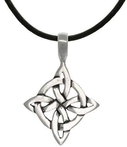 Jewelry Trends Celtic Good Luck Knot Pewter Pendant Necklace 18