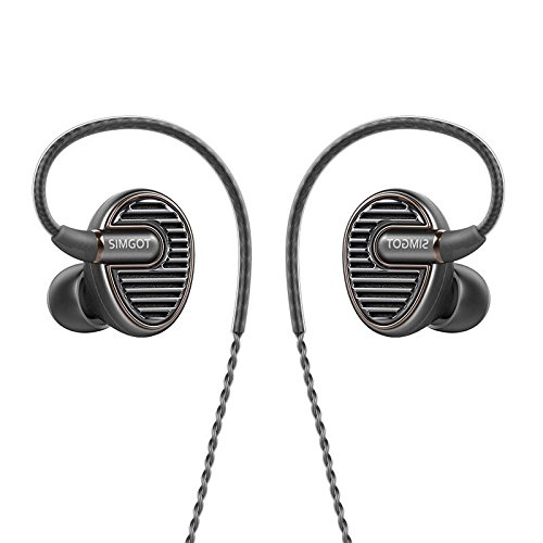 SIMGOT EN700 Bass In Ear N50 High Magnetic Composite Moving-Coil Dynamic Driver Earphone (Gray) by SIMGOT