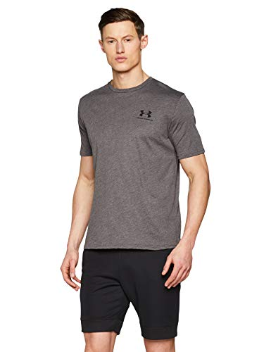 Uomo Sportstyle Corte Maglia Under Charcoal Armour A Chest Heather Left Maniche Medium 50081qwH