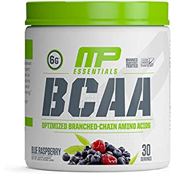 MP Essentials BCAA Powder, 6 Grams of BCAA Amino Acids, Post-Workout Recovery Drink for Muscle Recovery and Muscle Building, Valine Powder, BCCA Post-Workout, Blue Raspberry, 30 Servings