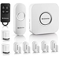 Alfawise Wireless Home Security Alarm System ,2.4 G WiFi Alexa Compatible ,2 in 1 PIR Motion Sensor,Main Panel,5 Modes Control Burglar Alert ,1 Doorbell Button,Control by Smartphone