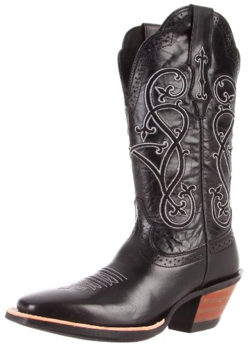 Ariat Women's County Line Boot,Black Deertan,10 B US