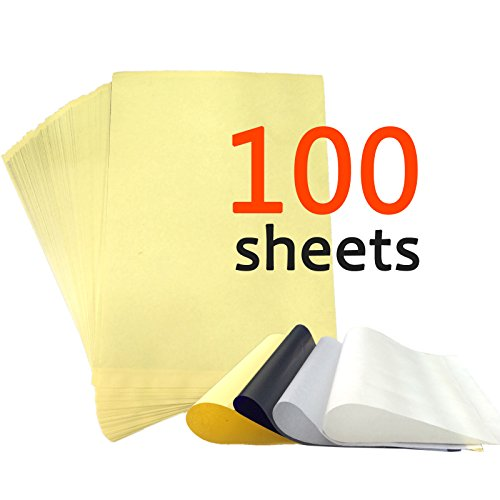 (Y-NOT 100 pcs 4 Sheets Thermal Stencil Tattoo Transfer Paper 8.5 inches x 11 inches)