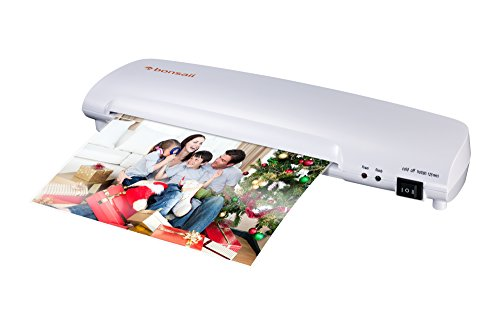 Bonsaii L403-A A4 Document Photo Thermal Laminator, Quick 3-5 min Warm-up, Laminates Items up to 9 Inches Wide, High Laminating Speed, Jam-Release Switch ()