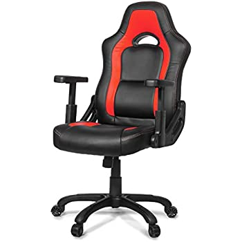 Arozzi Mugello Series Enhanced Gaming Racing Style Swivel Chair, Red