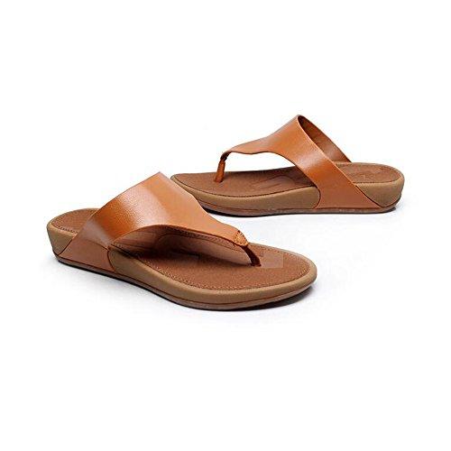 FEI Chanclas Pantalones para mujeres Verano Confort Casual Zapatos de tacón plano Zapatos de playa de temperamento Antidérapant ( Color : #4 , Tamaño : EU38/UK5.5/CN38 ) #3