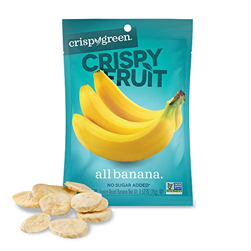 Crispy Green Freeze-Dried Fruit, Single-Serve, Banana, 0.53 Ounce (Pack of 12) | Non-GMO |Gluten Free |No Sugar Added ()