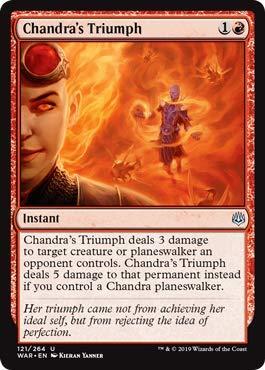 Triumph Single Card - Magic: The Gathering - Chandra's Triumph - War of The Spark