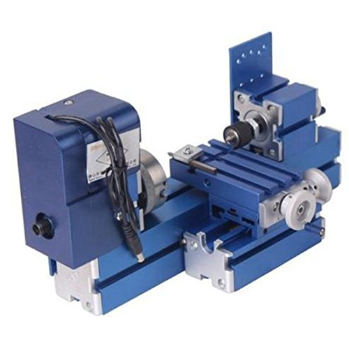 Welljoin Lathe Machine DIY Tool Universal Soft Metal Mini Turning Metal lathe by well join