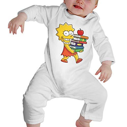B-Art Sim-p-Son On Skating Long Sleeve Baby Onesie Bodysuits (18M) -