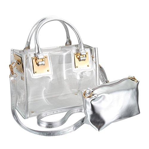 Messenger Bolso Candy Moda Verano Espeedy Transparente Bolso Bolsos Bolso plata 4 Mujer Playa Transparente Transparente 74w5qH