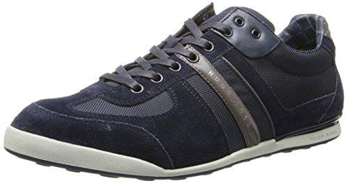 BOSS Green by Hugo Boss Men's Akeen Suede Sneaker Shoe, open blue, 12 US - 45 EU M US