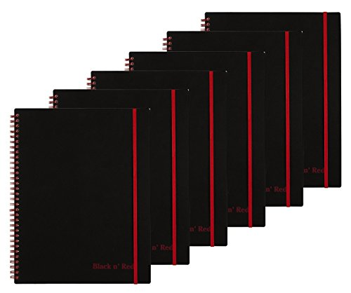 Black n' Red Twin Wire Poly Cover Notebook, Black, 70 sheets, 6 ()