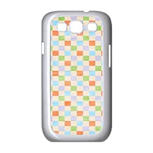 Custom Check Pattern Back Cover Case for SamSung Galaxy S3 I9300 JNS3-095